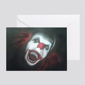 EvilClown Greeting Card