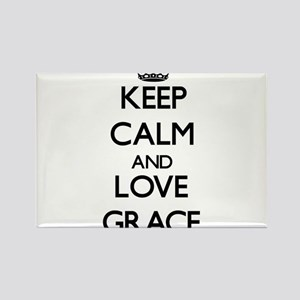 Keep Calm and Love Grace Magnets