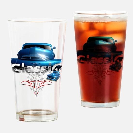 Blue_pinstripe Drinking Glass