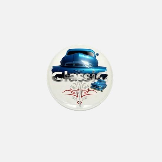 Blue_pinstripe Mini Button