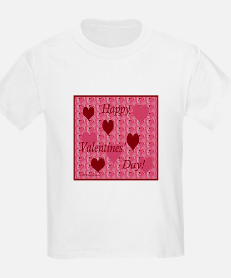 Rose Pattern with Hearts, Valentine Kids T-Shirt