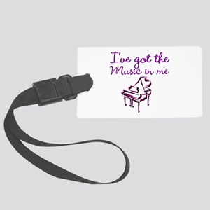 PIANO PLAYER Large Luggage Tag