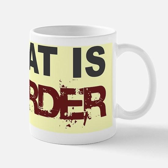 Meat Is Murder-yellow background-2 Mug