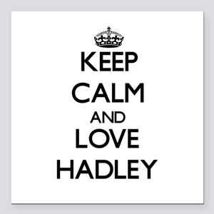 "Keep Calm and Love Hadley Square Car Magnet 3"" x 3"