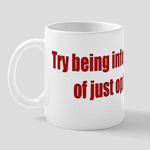Informed Bumper Sticker Mug