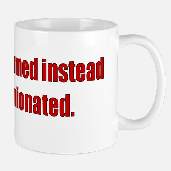 Informed Bumper Sticker Mug