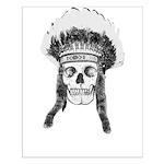 Skull Indian Headdress Posters