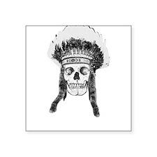 Skull Indian Headdress Sticker