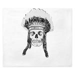 Skull Indian Headdress King Duvet
