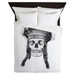 Skull Indian Headdress Queen Duvet