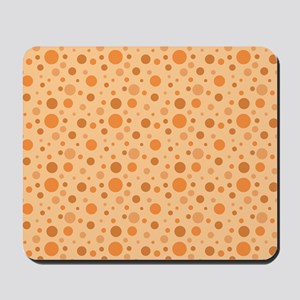 Orange You Glad Dot Pattern Mousepad
