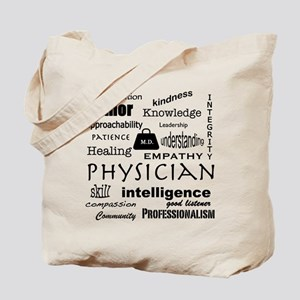 Physician Word Cloud/Black+Medical Bag Tote Bag