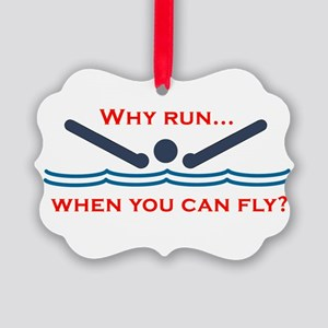 Why run when you can fly? Ornament