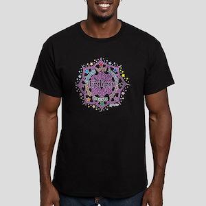 Epilepsy-Lotus Men's Fitted T-Shirt (dark)