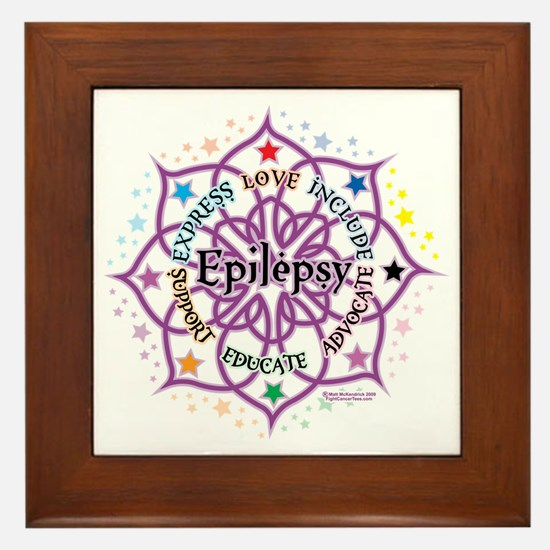 Epilepsy-Lotus Framed Tile