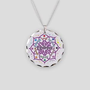 Epilepsy-Lotus Necklace Circle Charm