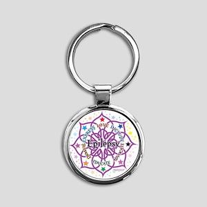 Epilepsy-Lotus Round Keychain