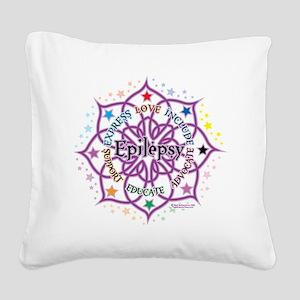 Epilepsy-Lotus Square Canvas Pillow