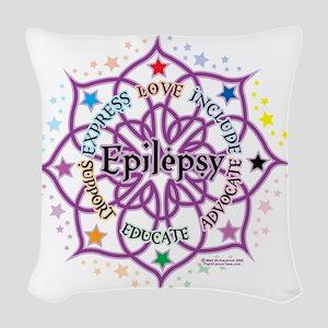 Epilepsy-Lotus Woven Throw Pillow