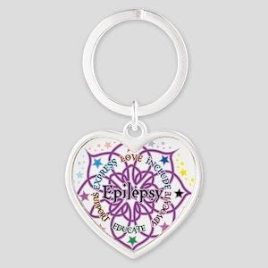 Epilepsy-Lotus Heart Keychain
