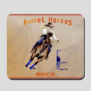 Barrel Horses Rock-Yardsign Mousepad