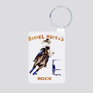 Barrel Horses Rock Trans Aluminum Photo Keychain