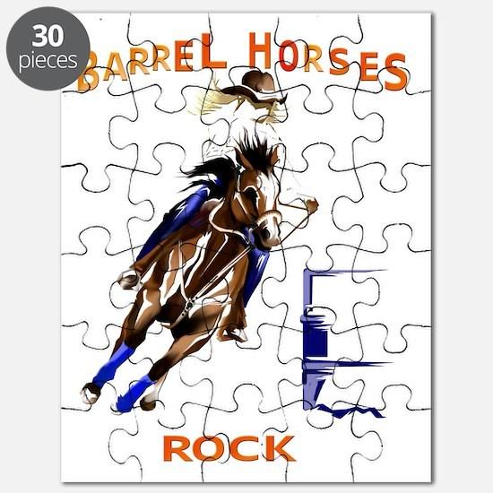 Barrel Horses Rock Trans Puzzle