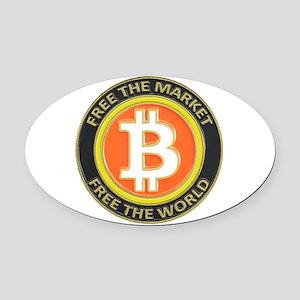 Bitcoin-8 Oval Car Magnet