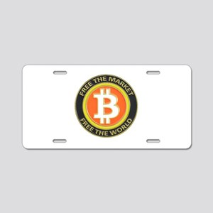 Bitcoin-8 Aluminum License Plate