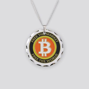 Bitcoin-8 Necklace Circle Charm