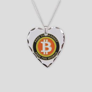 Bitcoin-8 Necklace Heart Charm