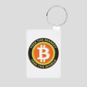 Bitcoin-8 Aluminum Photo Keychain