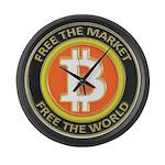 Bitcoin-8 Large Wall Clock