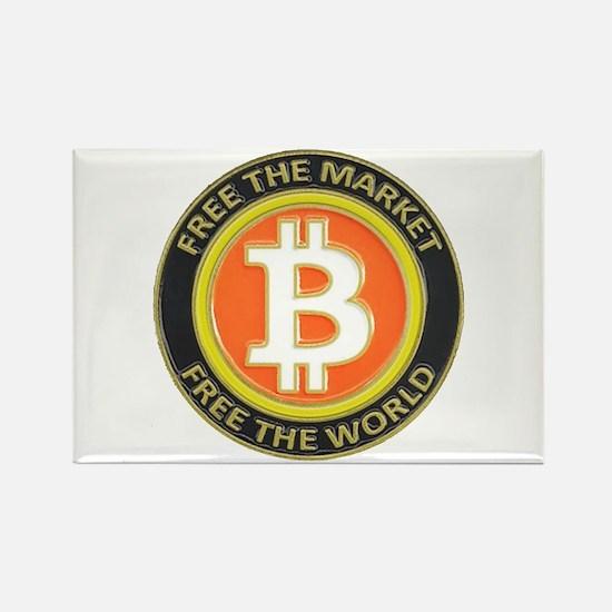 Bitcoin-8 Rectangle Magnet
