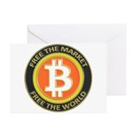 Bitcoin-8 Greeting Cards (Pk of 10)