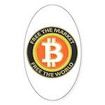 Bitcoin-8 Sticker (Oval 50 pk)