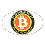 Bitcoin-8 Sticker (Oval)