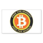 Bitcoin-8 Sticker (Rectangle 50 pk)