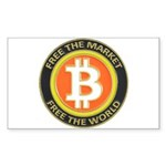 Bitcoin-8 Sticker (Rectangle 10 pk)