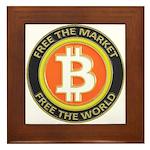 Bitcoin-8 Framed Tile
