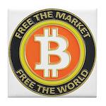 Bitcoin-8 Tile Coaster