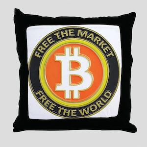 Bitcoin-8 Throw Pillow