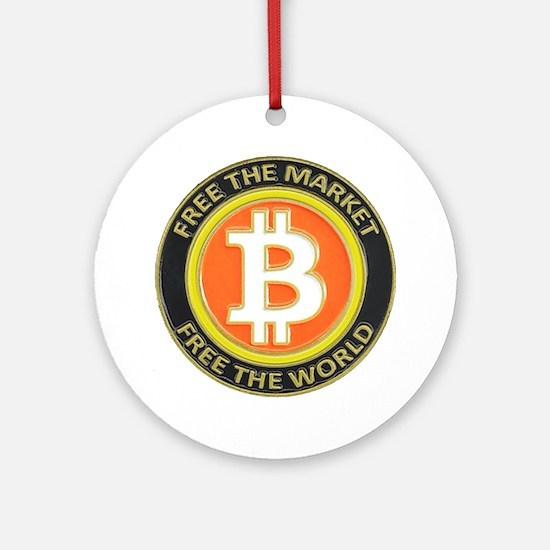 Bitcoin-8 Ornament (Round)