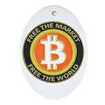 Bitcoin-8 Ornament (Oval)