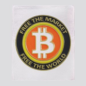 Bitcoin-8 Throw Blanket