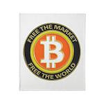 Bitcoin-8 Throw Blanket