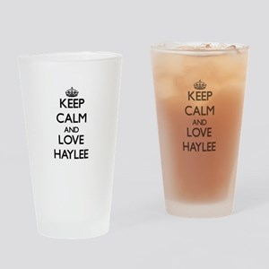 Keep Calm and Love Haylee Drinking Glass