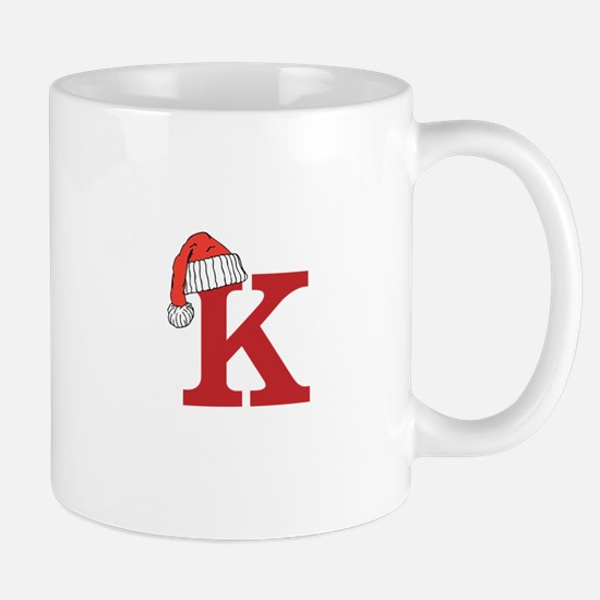 Letter K Christmas Monogram Mugs