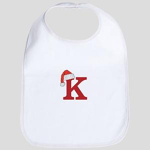 Letter K Christmas Monogram Bib