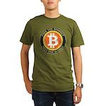 Bitcoin-8 Organic Men's T-Shirt (dark)